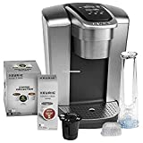 Keurig Fil K-Elite C Single Serve Coffee Maker (Brushed Silver) with 15, Water Filter, and My K-Cup, 2,