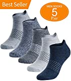 Mens Athletic Running Socks Low Cut No Show Sport Sock 5 Pack
