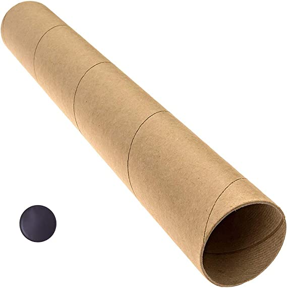 ULTNICE 18pcs Mailing Tubes with Caps Document Shipping Tubes for Storage Protecting