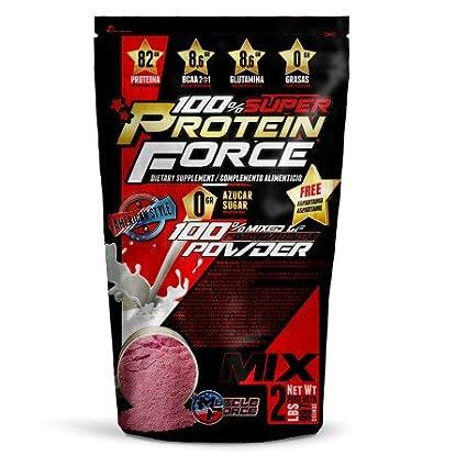 Protein Force 5 Mix, compuesto protéico de diferentes tipos de proteínas complemento alimenticio con edultorantes