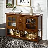 Walker Edison Farmhouse Wood Buffet Storage Cabinet