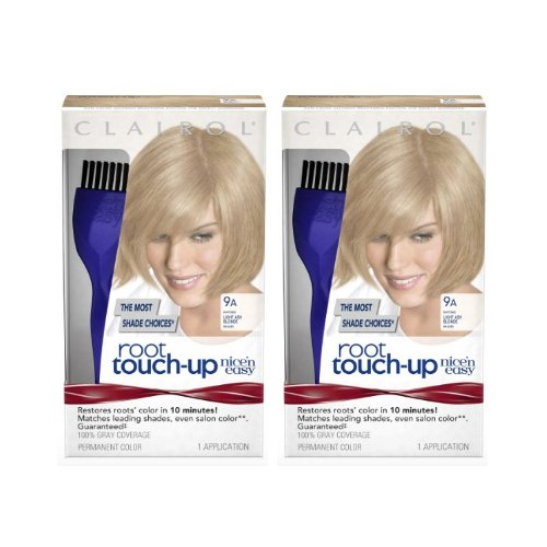Clairol Nice 'n Easy Root Touch-Up 9a Matches Light Ash Blonde Shades 1 Kit, (Pack of 2) (PACKAGING MAY (Ash Blonde Shades)