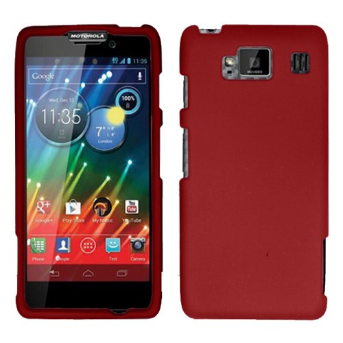 Red Rubber Hard Rubberized Case Cover Faceplate For - Cell Phone Covers Razor Max