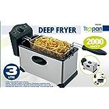 3 Litre Deep Fat Chips Fryer Basket Oil Fried Fish Nuggets Fry Food Kitchen Cook Pan (Tropan)