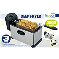 3 Litre Deep Fat Chips Fryer Basket Oil Fried Fish Nuggets Fry Food Kitchen Cook Pan (Tropan)
