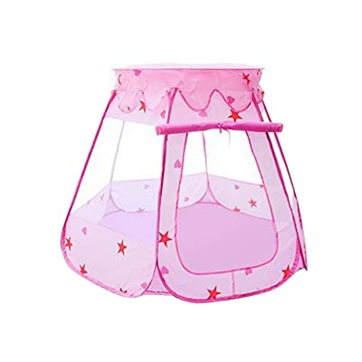 BESPORTBLE Kids Ball Pit Pop Up Children Play Tent Toddler Ball Ocean Pool Baby Crawl Teepee Tent for Kindergarten Entertainment Without Ball (Pink): Health & Personal Care
