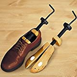 DSA Trade Shop Unisex Women Men Wooden Adjustable 2-Way Shoe Stretcher Expander Shaper Tree M