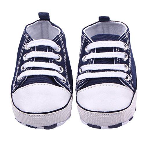 waylongplus Infant Cute Lienzo zapatillas de bebé prewalker antideslizante suave zapatos de entrenamiento rosa rosa Talla:12(6-12 meses) azul