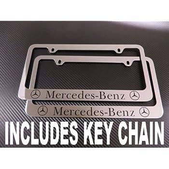 Amazon.com: Mercedes Benz Chrome License Plate Frame (metal): Automotive
