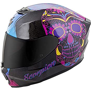 Scorpion Unisex-Adult Full-face-Helmet-Style Sugarskull (Black/Pink, Medium)