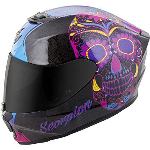 (Scorpion Unisex-Adult Full-face-Helmet-Style Sugarskull (Black/Pink, Medium))