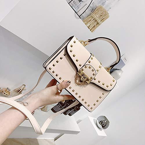 Sac Version Polyvalente coréenne la WSLMHH Sac Petit Bag épaule Rivet Sac carré Mode Kaki à Femme marée de Main Messenger EcqqPaR