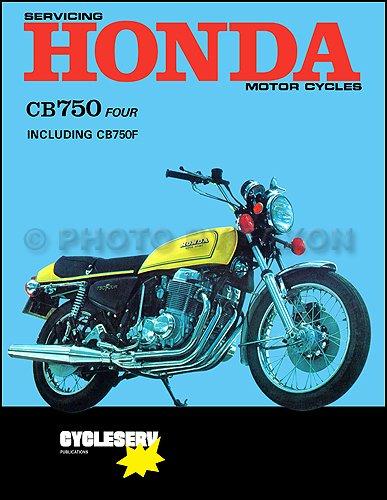 1969-1976 Honda CB750 & CB750F Motorcycle Repair Shop Manual Cycleserv