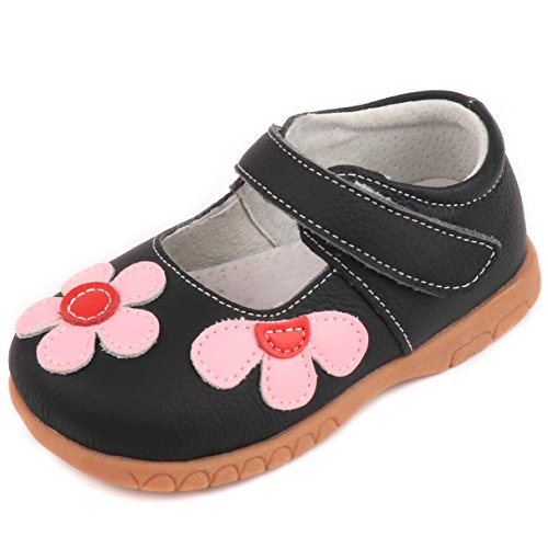 Price comparison product image Femizee Fashion Leather Flats Shoes Mary Jane Shoes for Toddler Girls,Black,1529 CN28