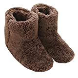 mianshe Furry Boot Home Slippers Womens Anti-Slip Indoor House Mens Hi-Top Slippers Winter Bootie Slipper