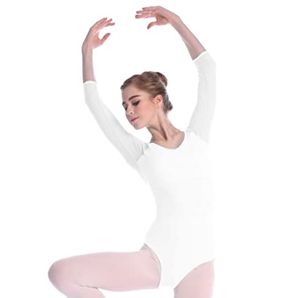 5fed9950ee2a2 Sprotingbodybuilding Women's Ballet Leotard 3/4 Sleeve Leotard Gymnastics  Leotard