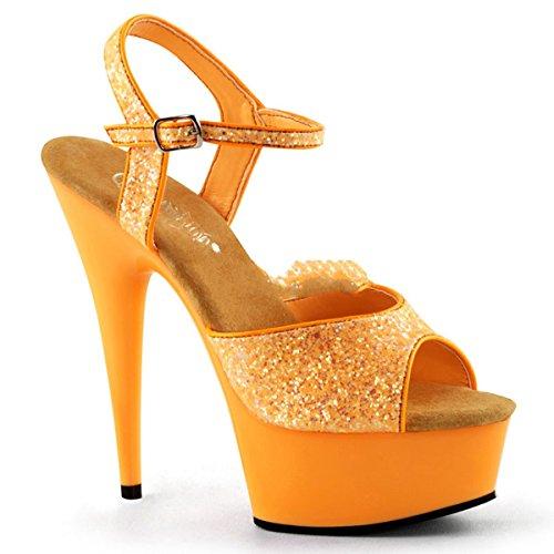 Pleaser - Sandalias de vestir para mujer Naranja naranja
