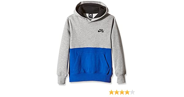 save off f9d94 310b4 Amazon.com  Boys 8-20 Nike SB Fleece Hoodie, Dark Gray Heather, Medium   Sports   Outdoors
