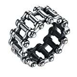 LineAve Men's Stainless Steel Bicycle Chain Ring