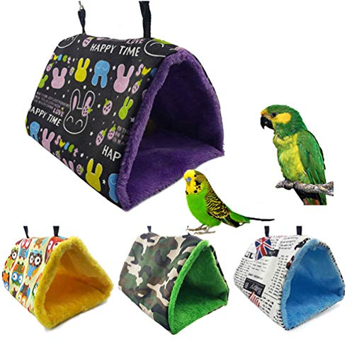 - Keersi Winter Warm Bird Nest House Bed Hanging Hammock Toy for Parakeet Cockatiel Conure Lovebird Budgie Finch Canary Cockatoo African Grey Amazon Macaw Eclectus Parrot Cage Perch Stand Swing