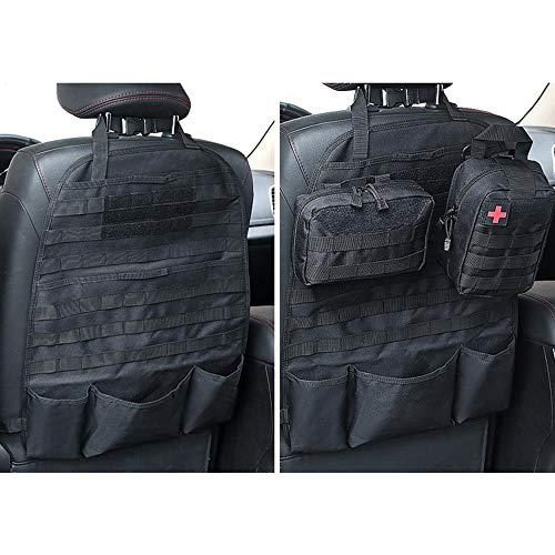 (LIVIQILY Molle Gun Bag Holster Case Front Seat Storage Gun Rack Sling Pistols Bag Car Seat Back Hunting Bags Organizer with Pockets (Black))