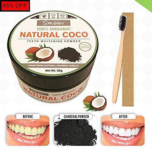 (Teeth Whitening Charcoal Powder Natural - Safe Use for Sensitive Teeth Gums    )