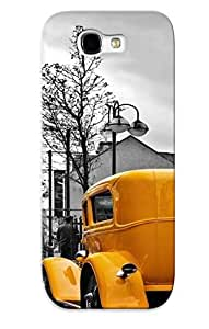 Podiumjiwrp High Grade Flexible Case For Galaxy Note 2 - Vintage Yellow Car ( Best Gift Choice For Thanksgiving Day)
