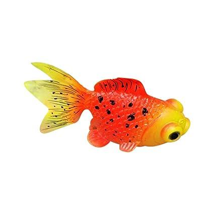 Cutowin - Adorno de Silicona para Acuario, Diseño de pez Dorado, B