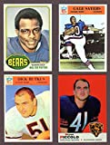 Chicago Bears (4) Card Football Rookie Reprint Lot Gale Sayers, Dick Butkus, Walter Payton, Brian Piccolo