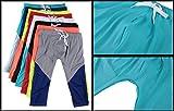 Funycell Men's Running Pants Capris Sports Tight Leggings Green US Medium
