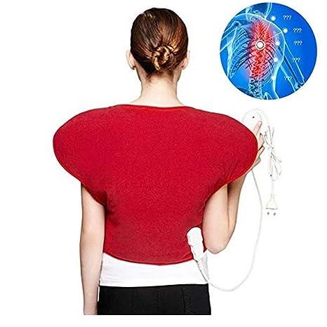 Almohadilla eléctrica eléctrica para hombros y cuello - Alivio del dolor físico Chaleco térmico caliente,
