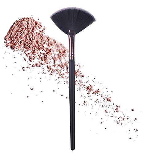 Slim Fan Shape Powder Concealer Blending Finish Highlighter Powder Bronzer Contour Makeup Brush Nail Art Brush