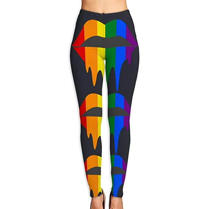 Amazon.com: Gay Lesbian Pride Rainbow - Mallas de yoga para ...