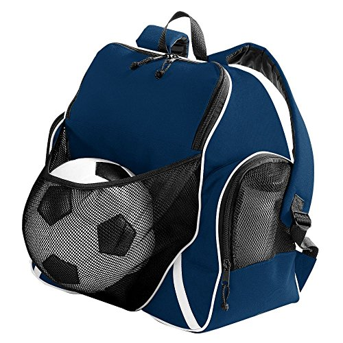Augusta Sportswear TRI-Color Ball Backpack OS Navy/Black/White