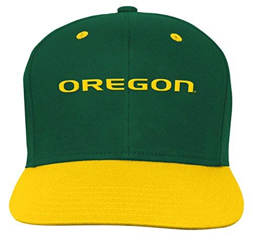 OuterStuff NCAA Oregon Ducks Children Boys Two Tone Flat Brim Snapback Hat, 1-Size, Dark Green (Hat Tone Baseball)