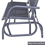 Superjare Outdoor Swing Glider Chair, Patio Bench