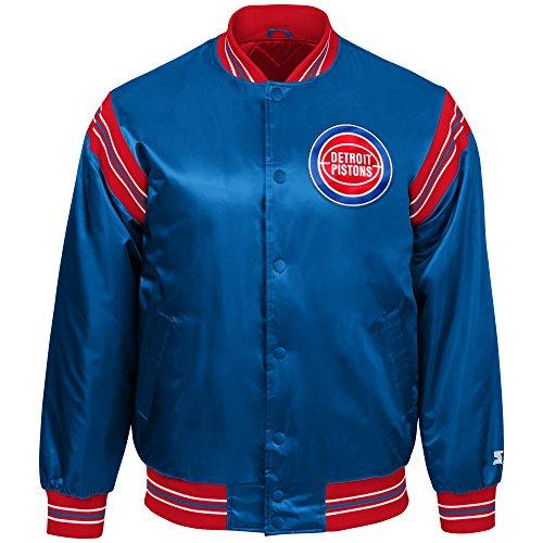 - STARTER NBA Detroit Pistons Youth Boys The Enforcer Retro Satin Jacket, Small, Royal