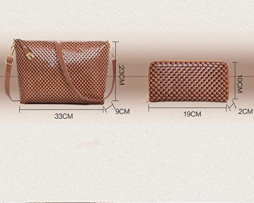 Eysee - Cartera de mano para mujer Marrón marrón 30cm*29cm*14cm rojo