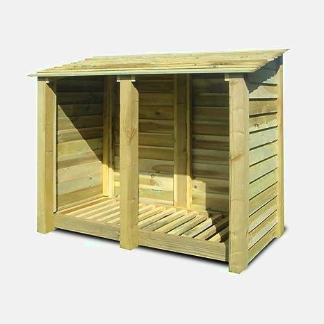 XFACTOR DEAL LIMITED 5FT Log Store - Caja de Madera para Almacenamiento de leña al Aire Libre, cobertizo de jardín de Altura Estrecha y Libro E: Amazon.es: Jardín