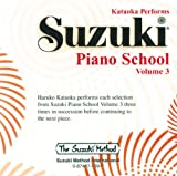 Kataoka Performs Suzuki Piano School Volume 3 Audio CD
