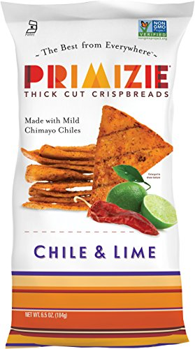 Primizie Cripsbreads - Chile: New Mexico Chimayo Chile & Lime (6.5 oz (Rare Rice Crackers)