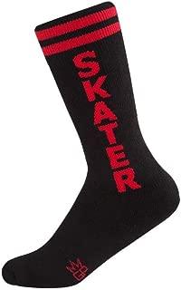 product image for Skater Socks - Kids Black and Red Unisex Knee High Socks