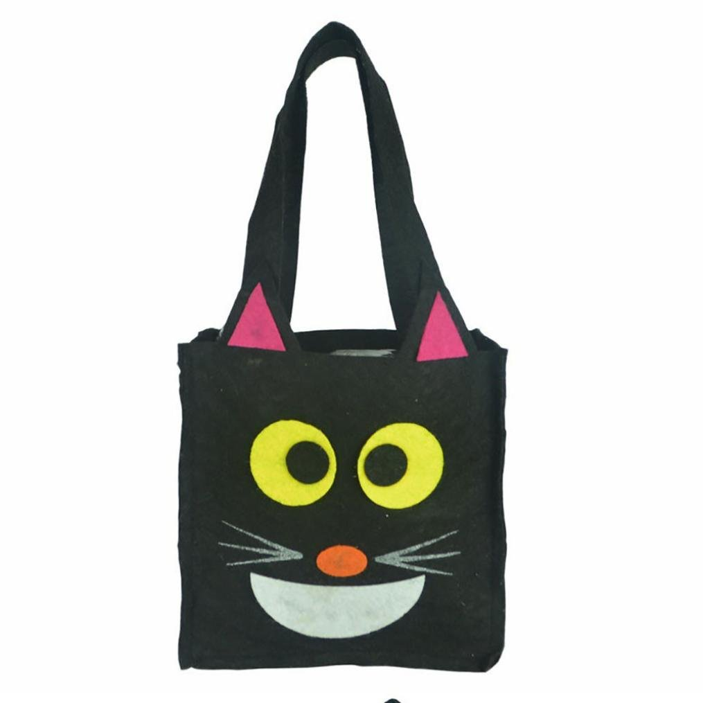 elaco Drawstring Halloween Candyストレージバッグwith Cute Witches / pumpkin /動物パターン子供パーティー包装ギフト free ELaco-HJ575 B074JDD57L A3