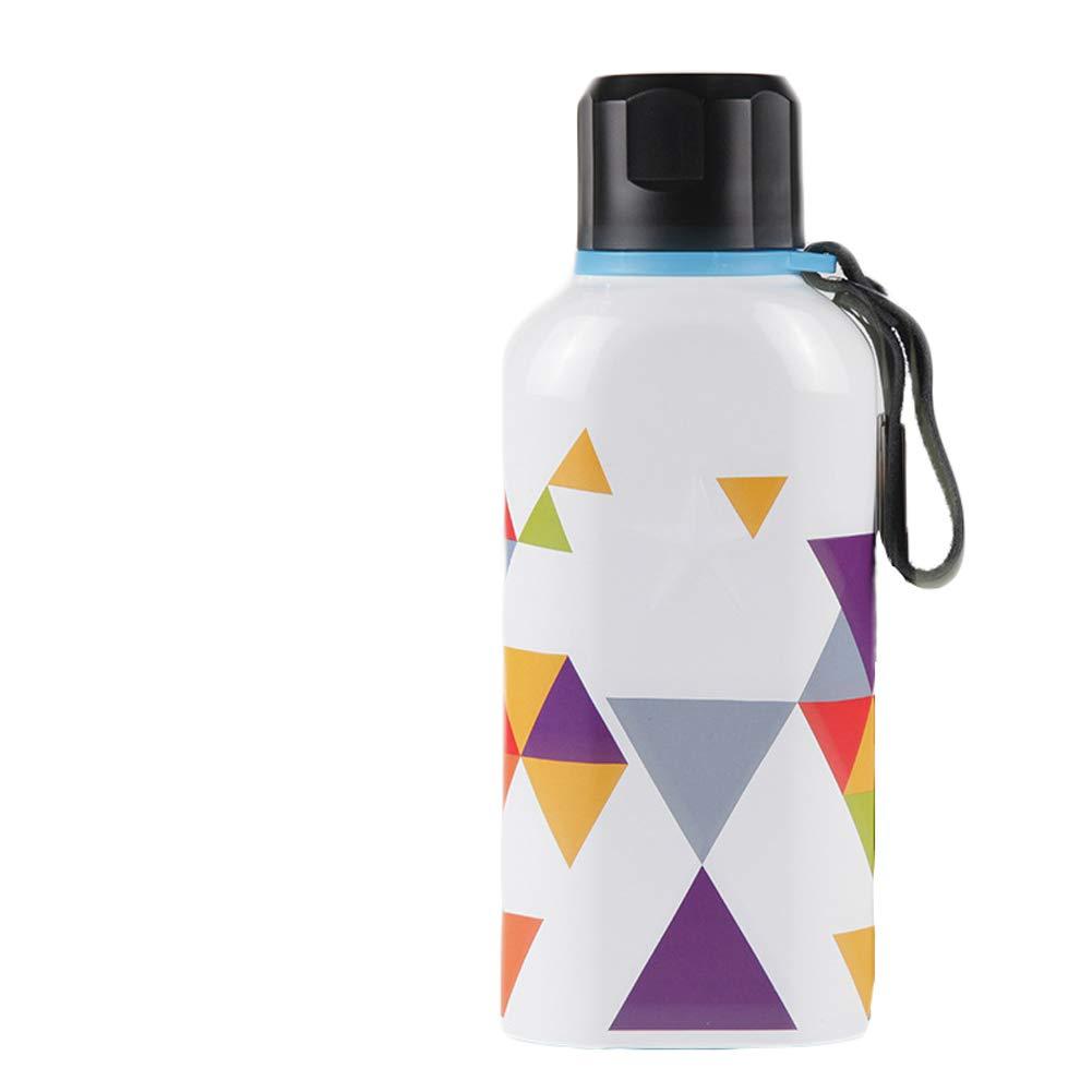 ARecda 450 Edelstahl-Vakuum-Insulaterd-Flasche mit Ledergriff (Farbe : Weiß)