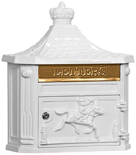Salsbury Industries 4460BLK Victorian Surface Mounted Mailbox Black