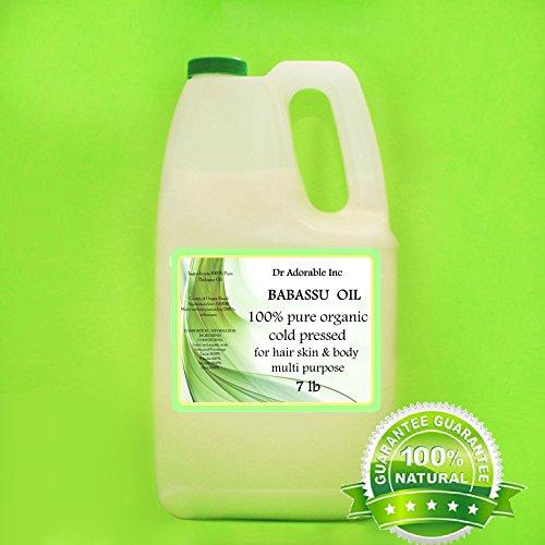 Babassu Oil Pure Cold Pressed Organic 7 Lb/1 Gallon