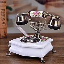 Genuine Solid Wood Telephone Antique Telephone European Retro Garden Telephone Classical Telephone