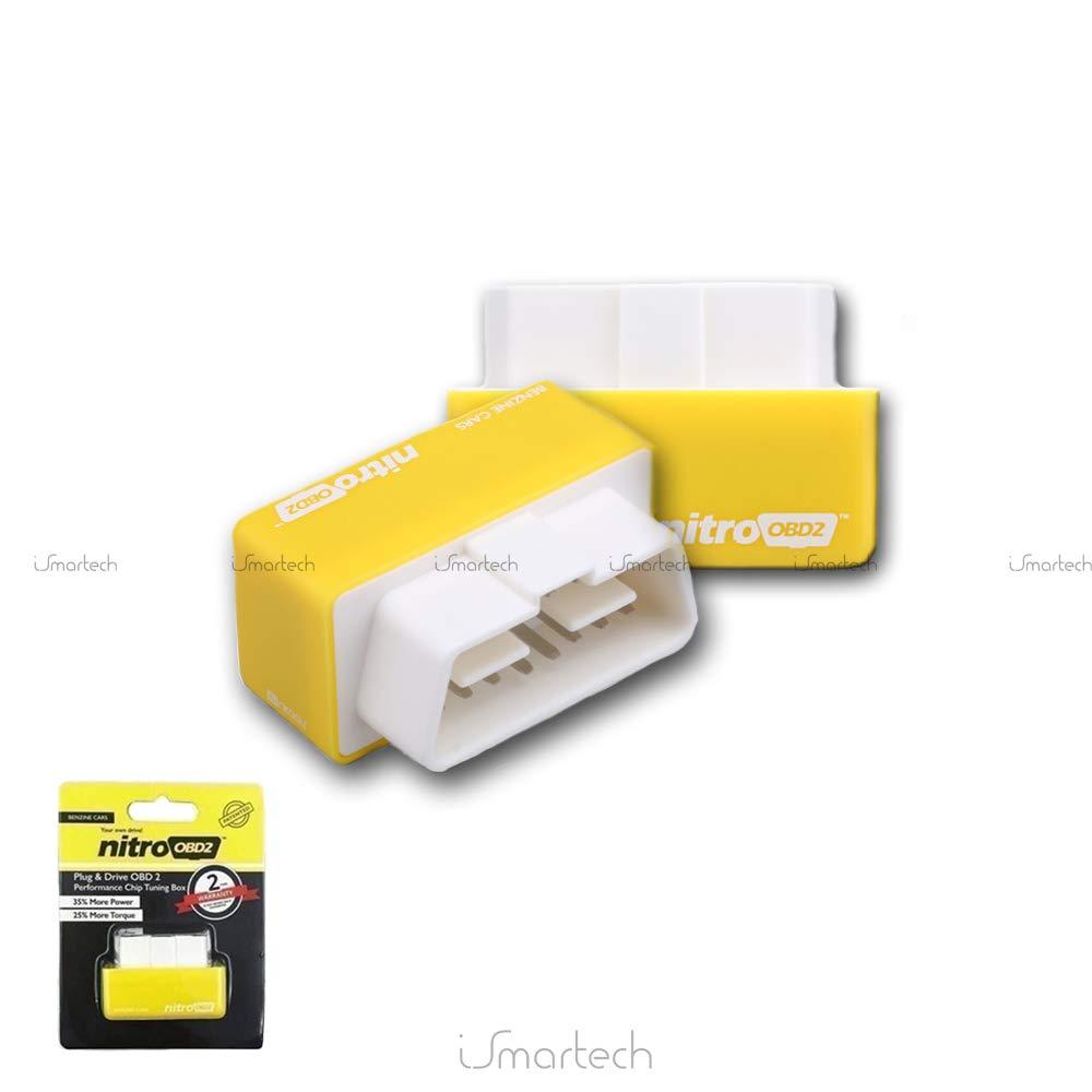 Caja de chip tuning Nitro OBD2 para todos los coches de gasolina, color amarillo