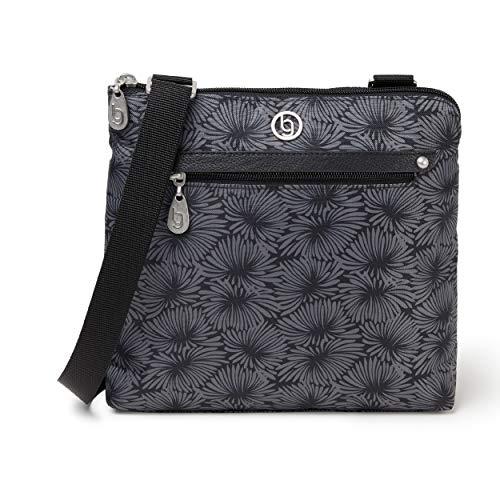 BG by Baggallini Denver Crossbody Bag - Stylish, Lightweight, Adjustable-Strap Purse With Multiple Pockets and RFID Protection, Lunar Bloom Flower Print