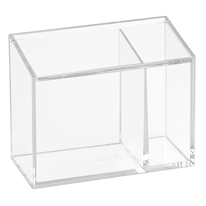Inter Design Clarity Cosmetic Organizer With Lid For Vanity Cabinet To Hold Makeup, Beauty Products   Clear by Amazon